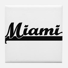 Miami Florida Classic Retro Design Tile Coaster