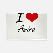 I Love Amira artistic design Magnets