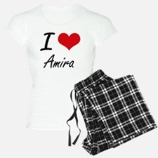 I Love Amira artistic desig Pajamas
