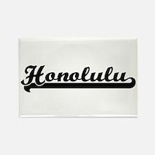 Honolulu Hawaii Classic Retro Design Magnets