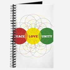 PEACE LOVE UNITY FLOWER OF LIFE Journal