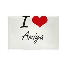 I Love Amiya artistic design Magnets
