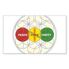 PEACE LOVE UNITY - flower of life Stickers