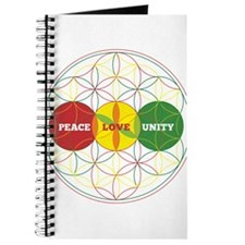 PEACE LOVE UNITY - flower of life Journal