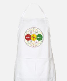 PEACE LOVE UNITY - flower of life Apron