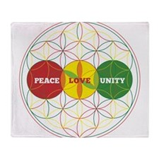PEACE LOVE UNITY - flower of life Throw Blanket