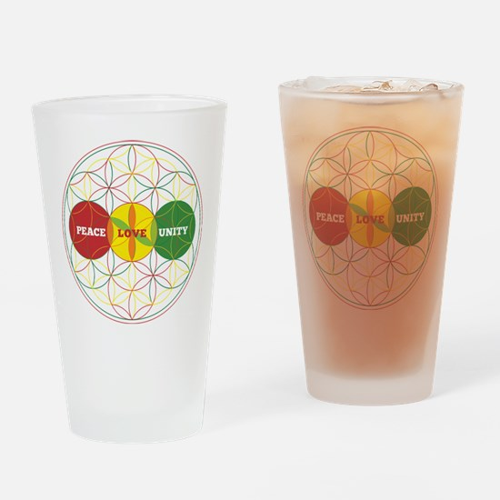 PEACE LOVE UNITY - flower of life Drinking Glass