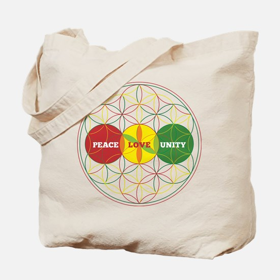 PEACE LOVE UNITY - flower of life Tote Bag