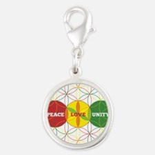 PEACE LOVE UNITY - flower of life Charms