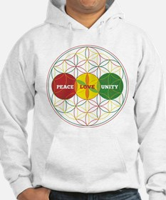 PEACE LOVE UNITY - flower of life Hoodie