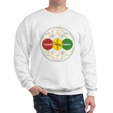 PEACE LOVE UNITY - flower of life Sweatshirt