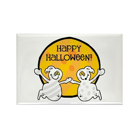 Friendly Ghosts Rectangle Magnet