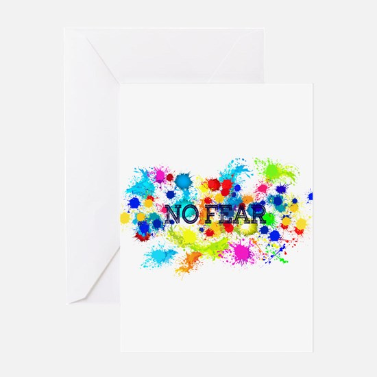 NO FEAR SPLAT Greeting Cards