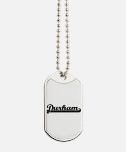 Durham North Carolina Classic Retro Desig Dog Tags