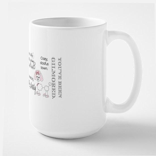 Oy with the poodles already Large Mug