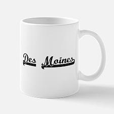 Des Moines Iowa Classic Retro Design Mugs