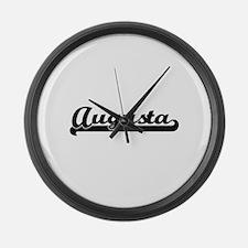 Augusta Georgia Classic Retro Des Large Wall Clock