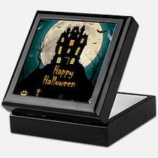 Happy Halloween Castle Keepsake Box