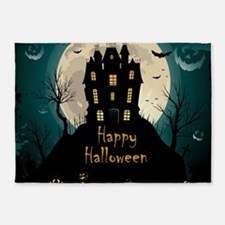 Happy Halloween Castle 5'x7'Area Rug