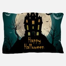 Happy Halloween Castle Pillow Case