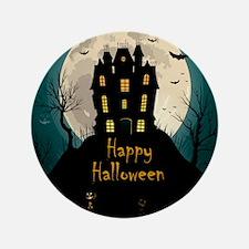 "Happy Halloween Castle 3.5"" Button (100 pack)"