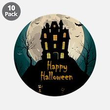 "Happy Halloween Castle 3.5"" Button (10 pack)"