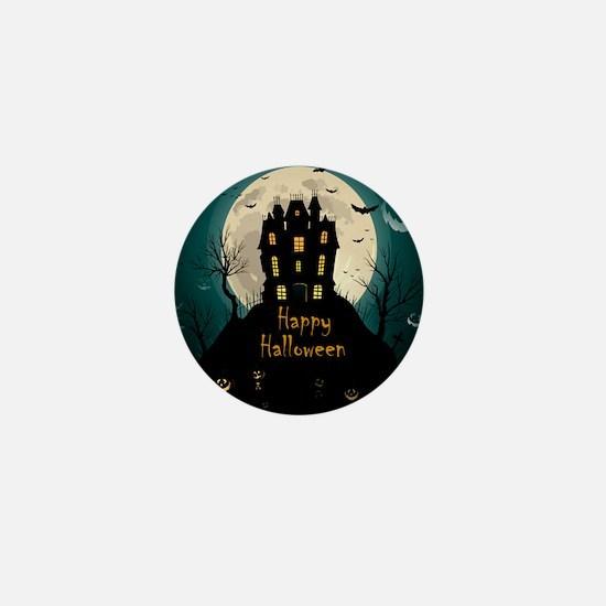 Happy Halloween Castle Mini Button (10 pack)