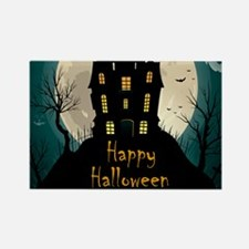 Happy Halloween Castle Magnets