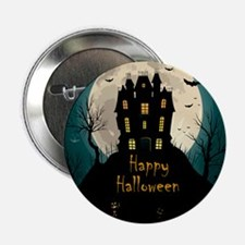 "Happy Halloween Castle 2.25"" Button (10 pack)"