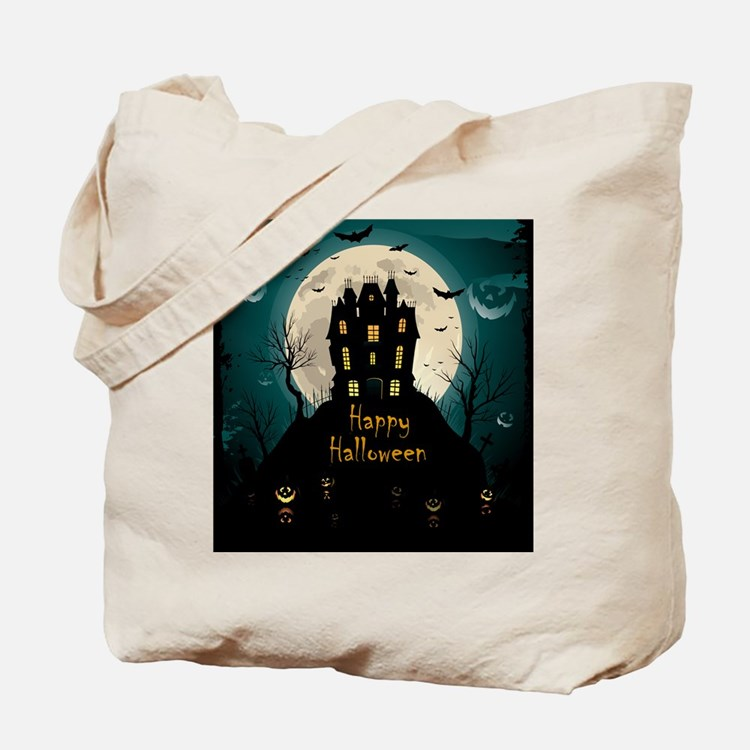 Happy Halloween Castle Tote Bag