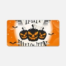 Happy Halloween Aluminum License Plate