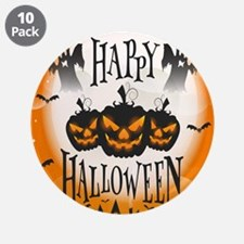 """Happy Halloween 3.5"""" Button (10 pack)"""