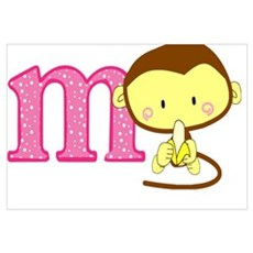 M is for monkey Framed Print