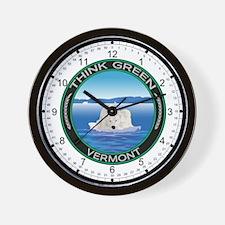Environmental Polar Bear Vermont Wall Clock