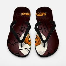 Happy Halloween Haunting Flip Flops