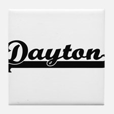Dayton Ohio Classic Retro Design Tile Coaster