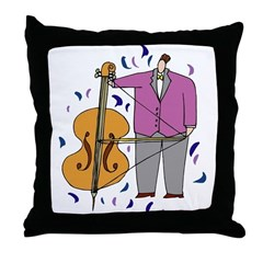 String Bass Throw Pillow