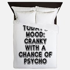 Cranky With A Chance Of Psycho Queen Duvet