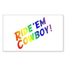 Ride'em Cowboy Rectangle Decal