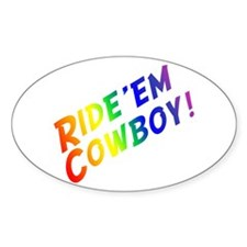 Ride'em Cowboy Oval Decal
