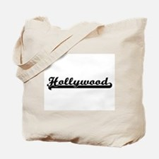 Hollywood Florida Classic Retro Design Tote Bag
