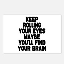 Keep Rolling Your Eyes Postcards (Package of 8)