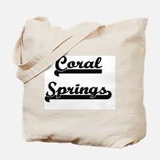 Coral Springs Florida Classic Retro Desig Tote Bag