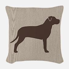 Pit Bull Woven Throw Pillow