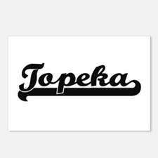 Topeka Kansas Classic Ret Postcards (Package of 8)