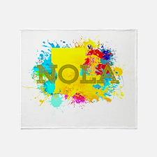 NOLA Splat Throw Blanket