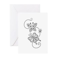 BUTTERFLY BATIK Greeting Cards