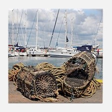 Lobster pots, Yarmouth, England Tile Coaster