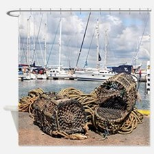 Lobster pots, Yarmouth, England Shower Curtain