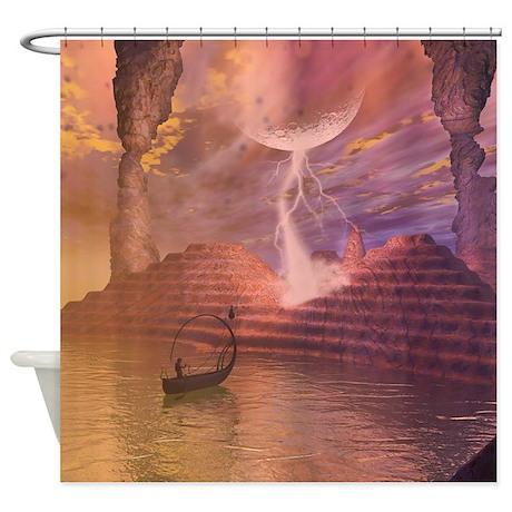 Fantasy landscape shower curtain by fantasyworld8 for Fantasy shower curtains